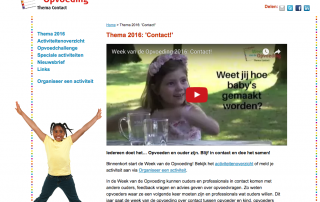 Week van de Opvoeding Thema Contact