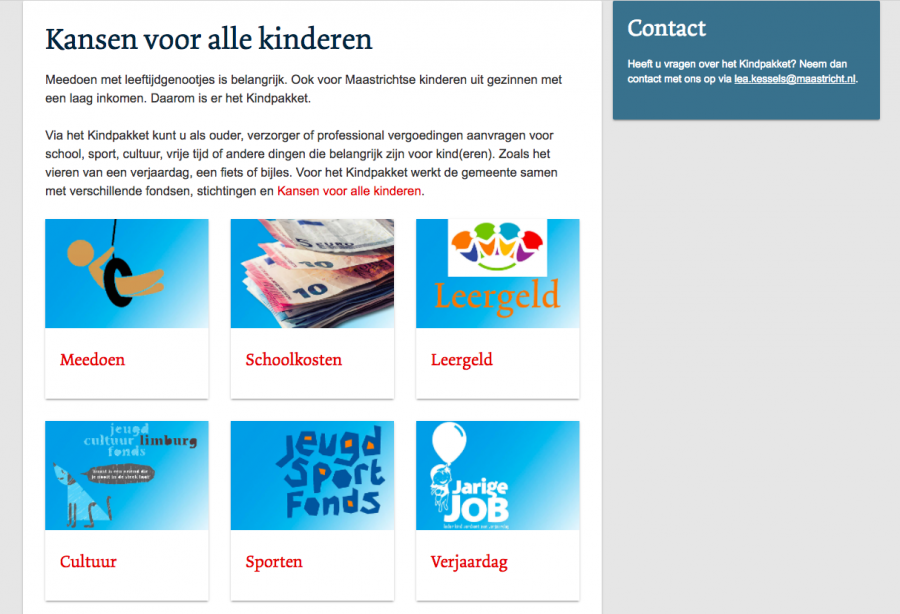 Knipsel Website Kindpakket