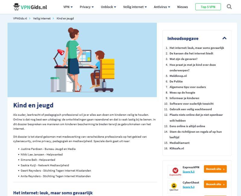 VPNGids.nl Kind En Jeugd