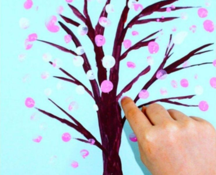 lenteboom maken knutselen peuter kleuter