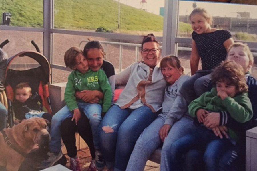 pleegmoeder Carrie & familie