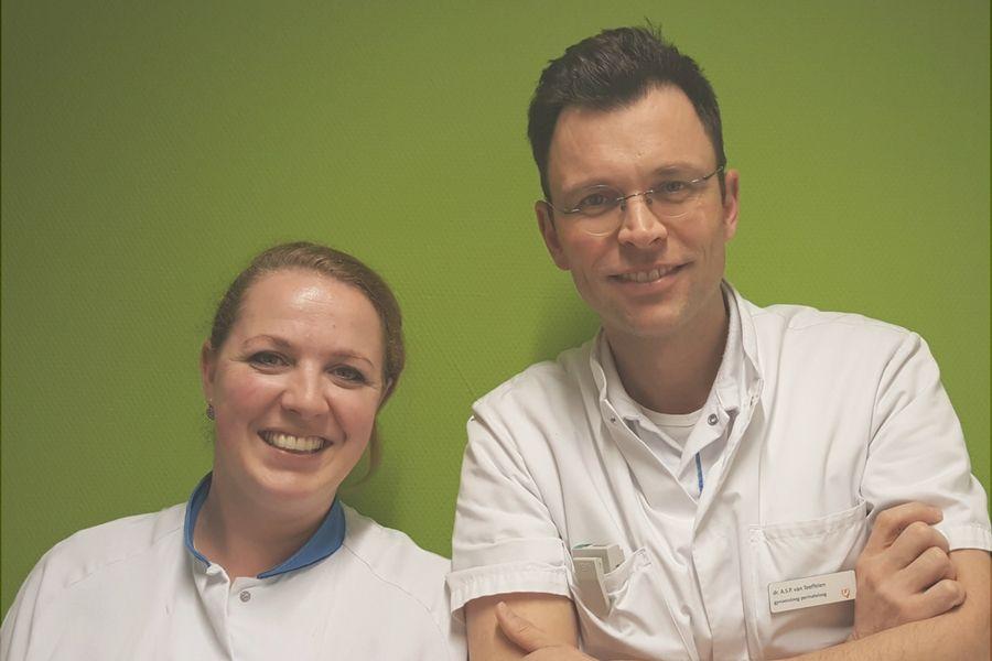 Ruby Steinbusch obstetrie verpleegkundige & Stijn van Teeffelen gynaecoloog perinatoloog Maastricht UMC+