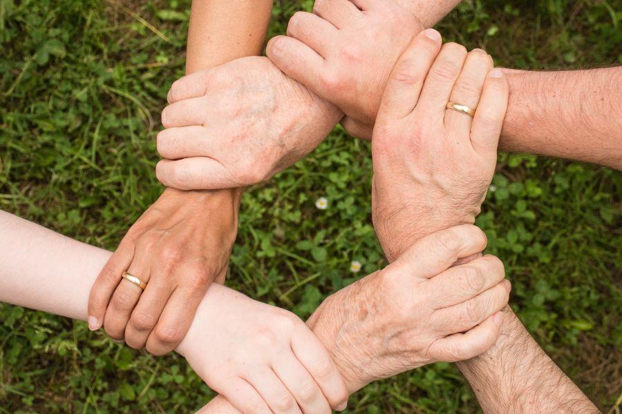 verbinden samen sterk