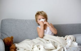 hoesten peuter verkouden ziek