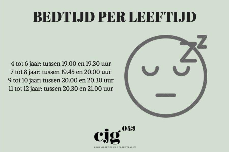 ideale bedtijd per leeftijd