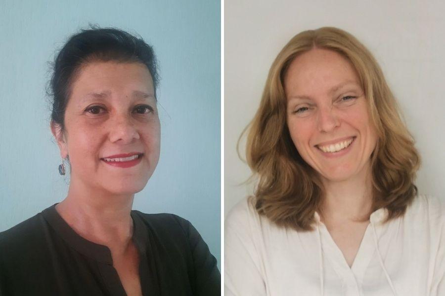 Inge Elzer senior adviseur Stichting Lezen en Schrijven & Esther Slits coördinator Laaggeletterheid Heuvellandbibliotheken
