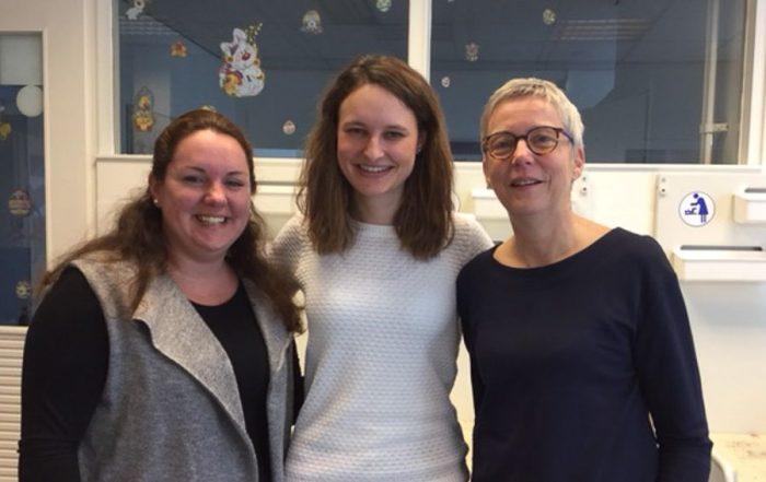 Chantal Yagiz assistente, Suzanne Plaice jeugdverpleegkundige & Monique Niesten jeugdarts